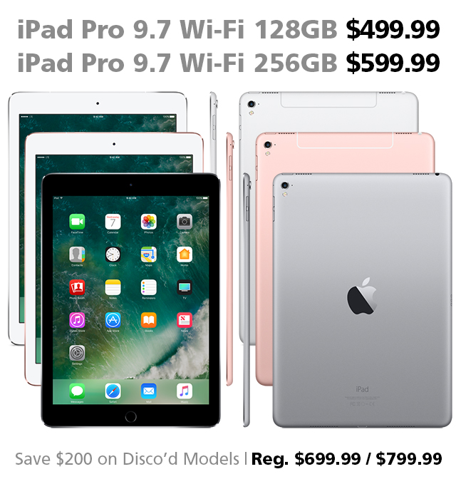 deal of the week 200 off ipad pro 9 7 inch wi fi 128gb 256gb. Black Bedroom Furniture Sets. Home Design Ideas